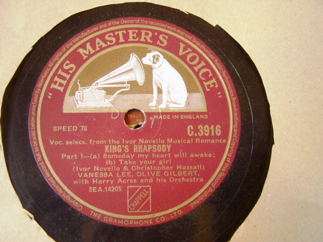 IVOR NOVELLO - KINGS RHAPSODY - HMV C 3916 { 237